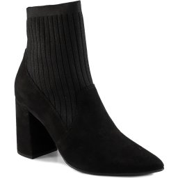 Bota Sock Boot Knit Bico Fino Salto Bloco 2020 Offline 21251