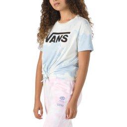 Camiseta Feminina Hypno Script BF Knot Tye Dye Vans V470270357