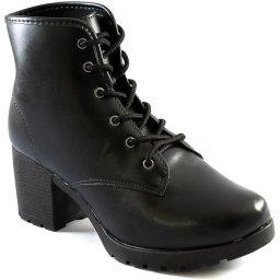 Coturno Salto Bloco Tratorado Feminino Sapato Show 12907