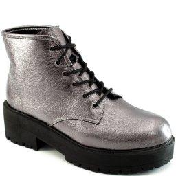 Coturno Verniz Tratorado Sapato Show 11593