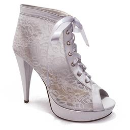 Ankle Boot para Noivas em Renda Belmon - 548 - Branco - 33 ao 43