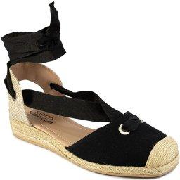 Espadrille De Amarrar Bico Quadrado Verão Sapato Show 13045