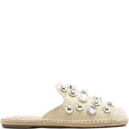 Flat Mule Maxi Pearls Handmade Schutz S016880252