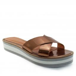 Tamanco Flatform Numeração Especial Sapato Show 8001