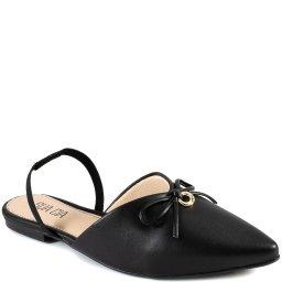 Mule Bico Fino Slingback Com Laço Verão Sapato Show 13700