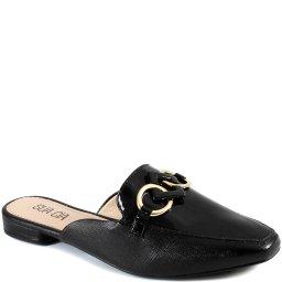 Mule Casual Feminino Bico Quadrado Verniz Sapato Show 13796