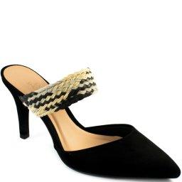 Mule Feminino Nobuck Tira Trançada Sapato Show 18036