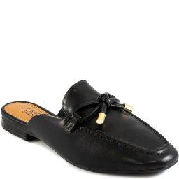 Mule Mocassim Com Laço Bico Quadrado Verão Sapato Show 13191