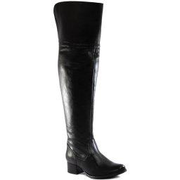 Over Boot Em Couro Feminina Inverno 2021 Sapato Show 1402