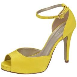 Peep Toe Amarelo Numeração Especial Belmon - 19021