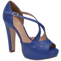 Peep Toe Azul Belmon - 13229