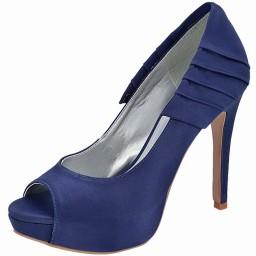 Peep Toe Azul Marinho Numeração Especial Belmon - 13223