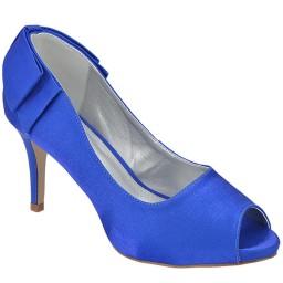 Peep Toe Azul Numeração Especial Belmon - 14150