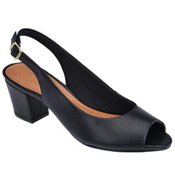 Peep Toe Chanel Skippy - 1753 Preto