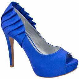 Peep Toe de Festa Azul Numeração Especial Belmon - 13210