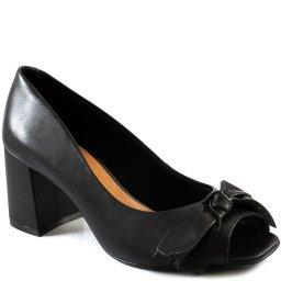 Peep Toe Feminino Bico Quadrado Com Laço Sapato Show 44508