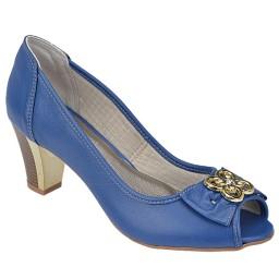 Peep Toe feminino Coleção Verão Spinelli 2626 Azul Royal