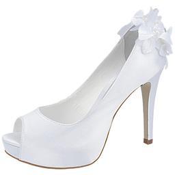 Peep Toe Feminino Flores Belmon - 13151 - Branco - 33 a 43