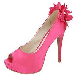 Peep Toe Feminino Flores Pink Belmon - 13151 - 33 a 43