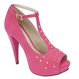Imagem do produto - Peep Toe Feminino Salto Alto Pink Belmon -  13146 - 33 a 43