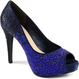 Peep Toe Feminino Stiletto Com Strass Zariff Shoes 89086194