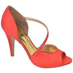 Peep Toe Feminino Tira Belmon - F42 - Vermelho
