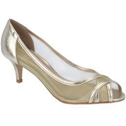 Peep Toe Feminino Tiras Cruzadas Belmon - 23007 - Ouro - 33 a 43