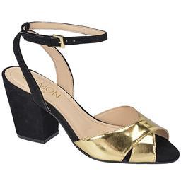 Peep Toe Feminino Tiras Cruzadas Belmon - 24005 - Ouro