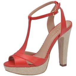 Peep Toe Vermelho Belmon - 13235