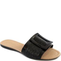 Rasteira Croco Fivela Número Grande Sapato Show 5016703