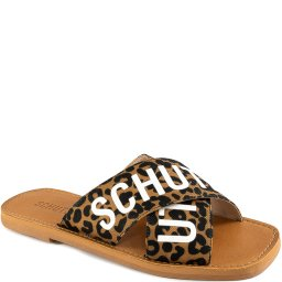 Rasteira Flat Cross Animal Print Verão 2021 Schutz S208890023