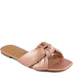 Rasteira Knot Bico Quadrado Verão 2021 Sapato Show 06970
