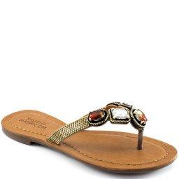 Rasteira Pedrarias Numeração Especial Sapato Show 645e