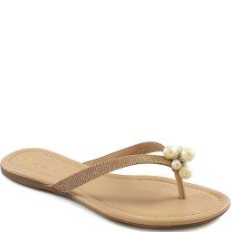 Rasteira Pérolas Numeração Especial Sapato Show 5018003