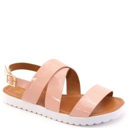 Sandália Rasteira Envernizada Sapato Show 11316