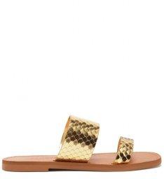 Rasteira Slide Tiras Bright Snake Schutz S208890003