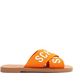 Rasteira Slide Tiras Cruzadas Bico Quadrado Schutz S208890004