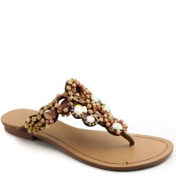 Rasteira Com Pedrarias Zariff Shoes 836
