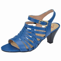 5fd42963e Sandália Azul Salto Médio Milla - 2119