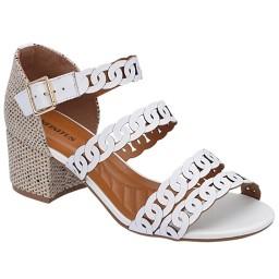 Sandália Branca Sapato Show - 1844