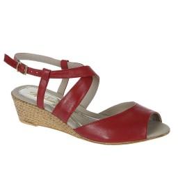 Sandália com Salto Espadrille D'Laurem - 925