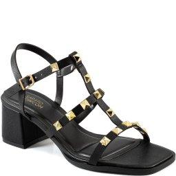 Sandália Com Spikes Bico Quadrado Sapato Show 4434.07405