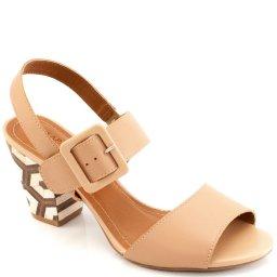 Sandalia Couro Numeração Especial Sapato Show 15607e