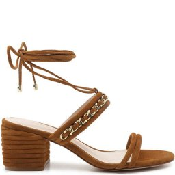 Sandália De Amarrar Com Correntes Texture Schutz S200010531