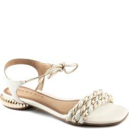 Sandália De Amarrar Salto Baixo Ramarim Total Comfort 213204
