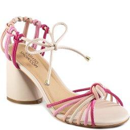 Sandália De Tiras Feminina Lace Up Verão Sapato Show 1590876