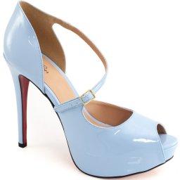 Sandalia Envernizada Numeração Especial Sapato Show 74116e