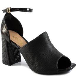 Sandália Feminina Bico Quadrado Snake Sapato Show 1896104
