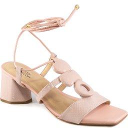 Sandália Lace Up Snake Numeração Grande Sapato Show 1640896