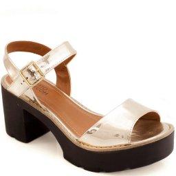 Sandália Metalizada Tratorada Sapato Show 12815